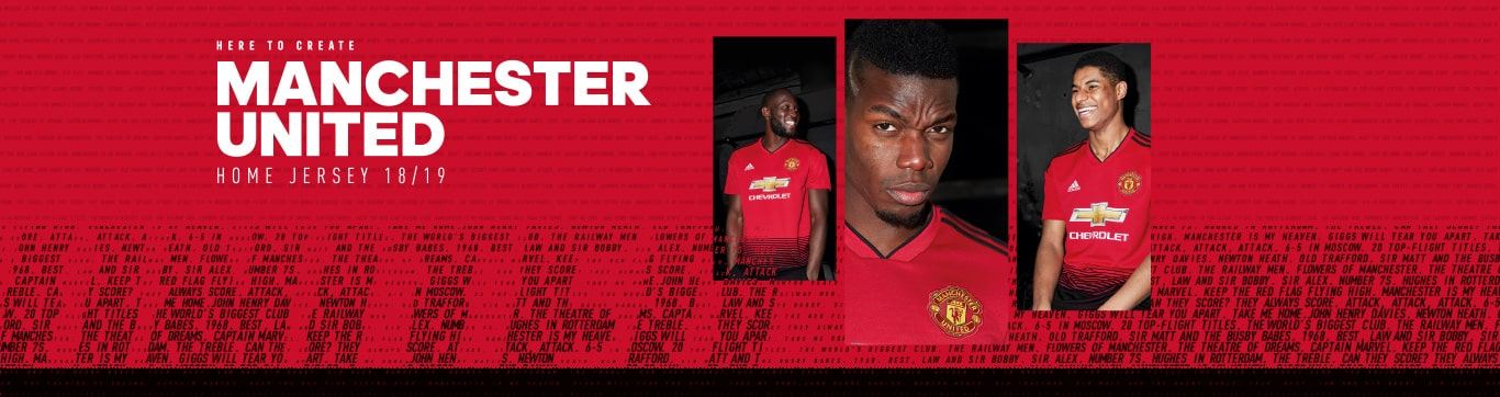 MANCHESTER UNITED Home Jersey 18/19 マンチェスター ユナイテッド ホーム ジャージ