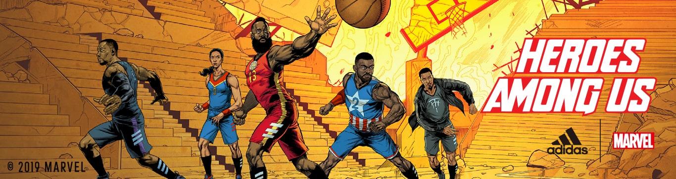 adidas basketball MARVEL アディダス バスケットボール マーベル