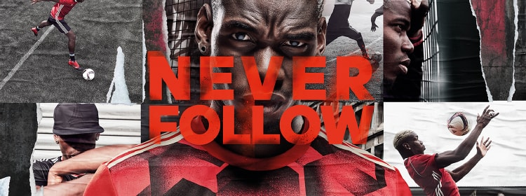 NEVER FOLLOW adidas FOOTBALL RED LIMIT