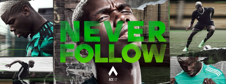 NEVER FOLLOW adidas FOOTBALL