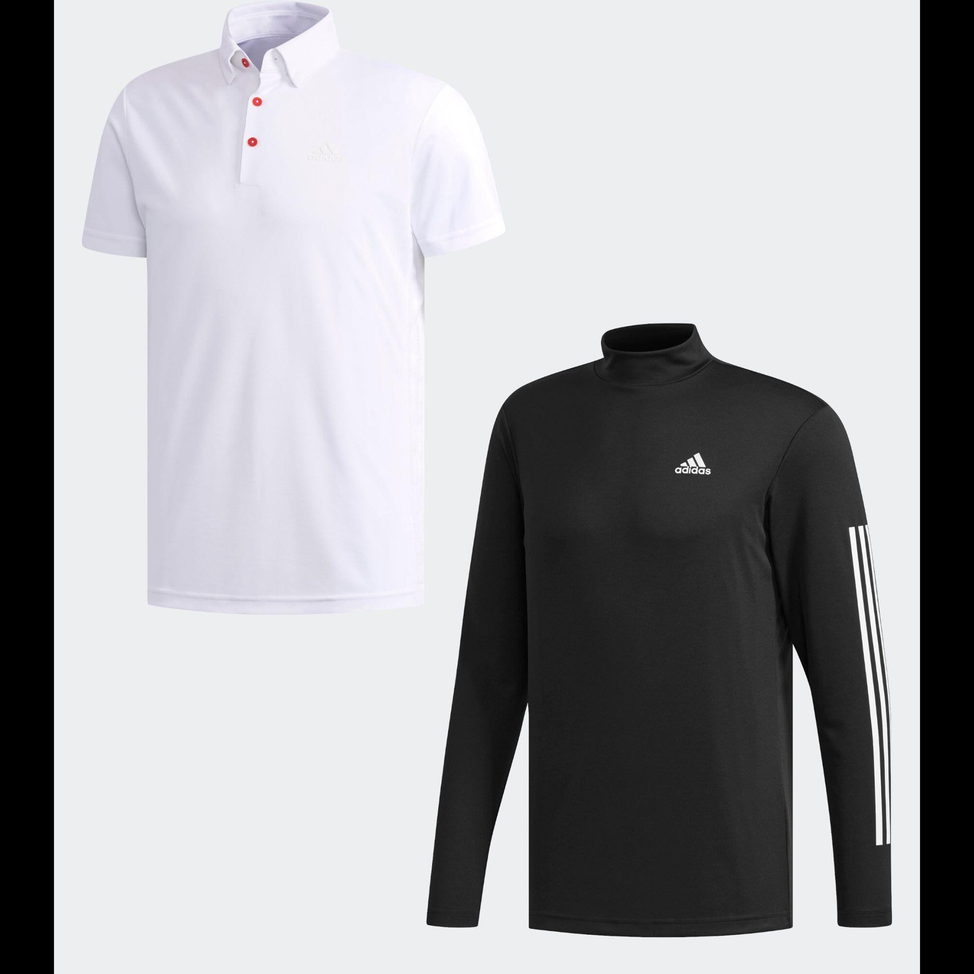 スリーストライプス レイヤードボタンダウンシャツ 【ゴルフ】