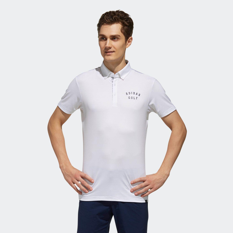 adicrossドットストライプ 半袖ボタンダウンシャツ 【ゴルフ】