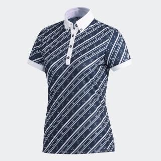 ADICROSS クラブプリント 半袖ボタンダウンシャツ