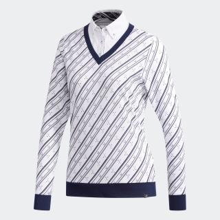 adicross クラブプリント フェイクレイヤードシャツ 【ゴルフ】