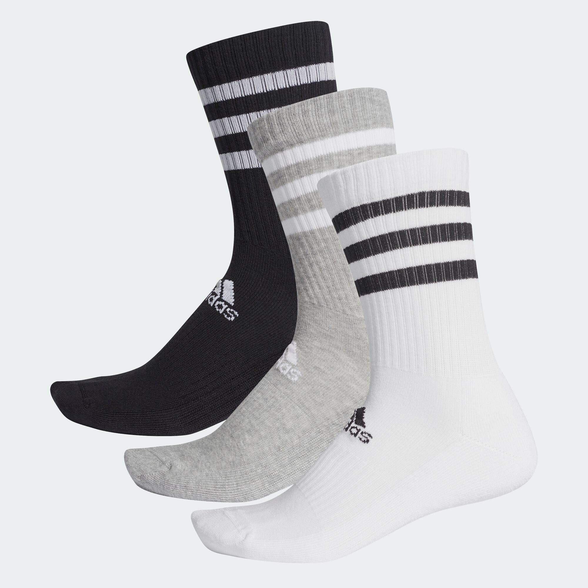 スリーストライプス クッション クルー ソックス 3足組み [3-Stripes Cushioned Crew Socks 3 Pairs]