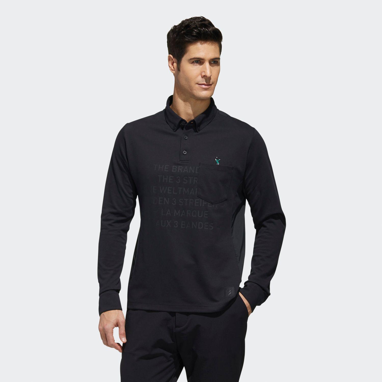 ADICROSS レタード 長袖ボタンダウンシャツ / ADICROSS Polo Shirt