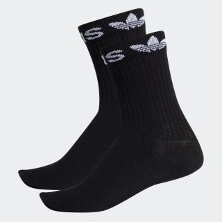 リニア カフ クルーソックス 2足組み [Linear Cuff Crew Socks 2 Pairs]