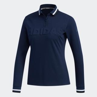 ADIDASロゴ 長袖ポロ / Polo Shirt