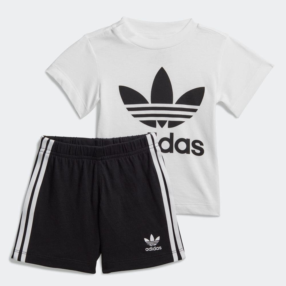 子供用トレフォイル ショーツ Tシャツ セット [Trefoil Shorts Tee Set]