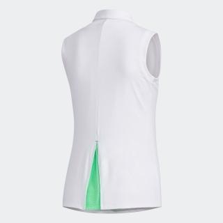 エンボスプリント ノースリーブボタンダウンシャツ