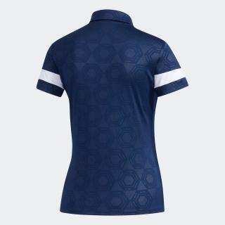ヘキサゴンエンボスプリント 半袖ボタンダウンシャツ【ゴルフ】