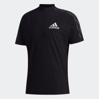 スリーストライプス S/Sモックネックシャツ