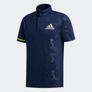 エンボスプリント 半袖ボタンダウンシャツ