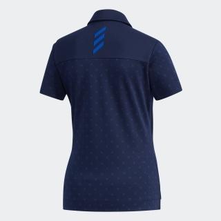 ADICROSS モノグラムプリント 半袖ボタンダウンシャツ