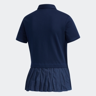 ADICROSS プリーツヘム 半袖ボタンダウンシャツ【ゴルフ】