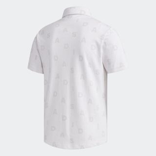 ADIDASモノグラム 半袖ボタンダウンシャツ【ゴルフ】