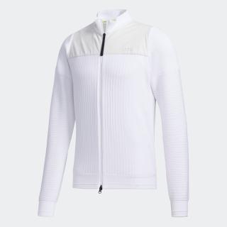 ファブリックミックス 長袖 フルジップセーター / Sweater