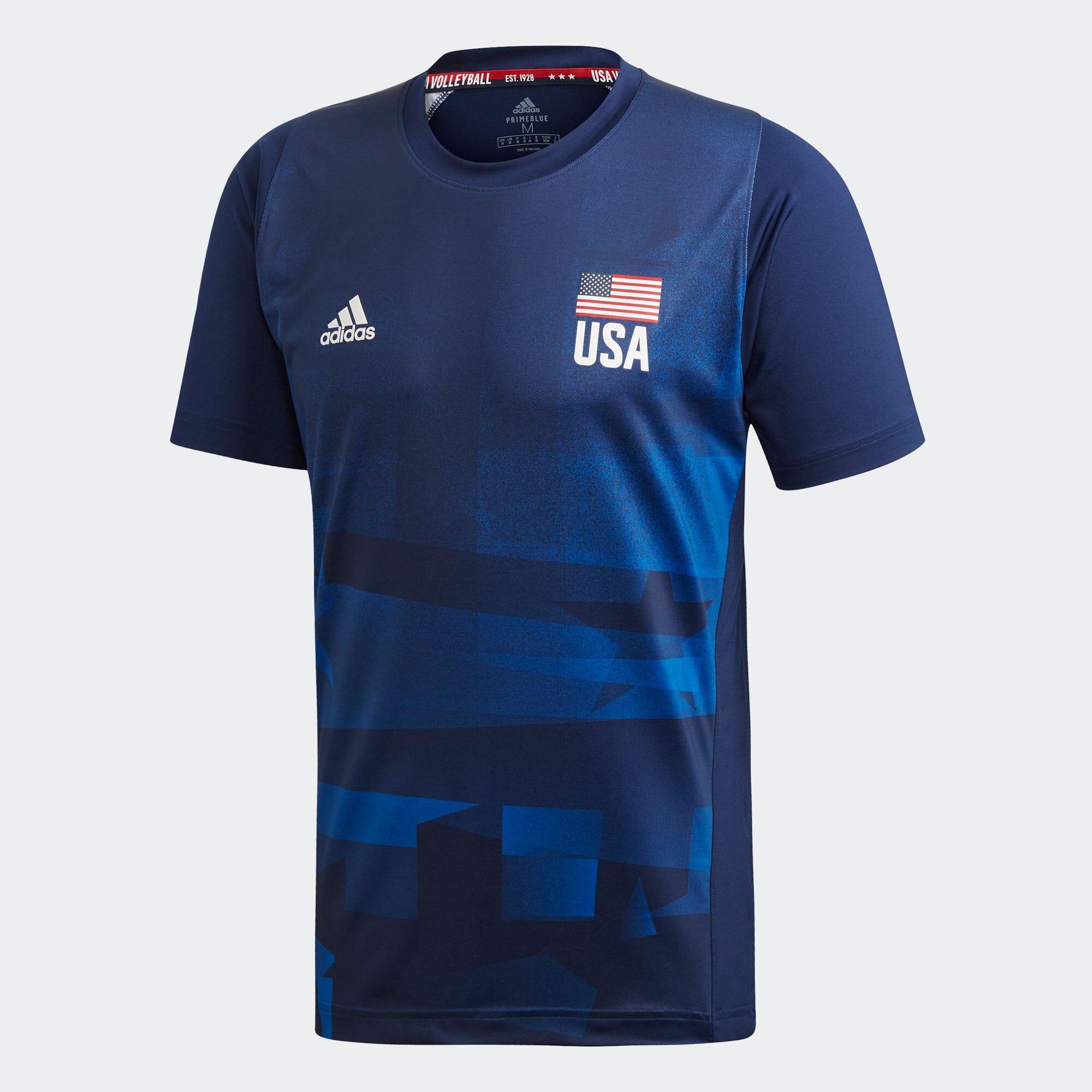 USA バレーボール PRIMEBLUE レプリカTシャツ / USA Volleyball Primeblue Replica Tee