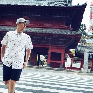 ADICROSS Mt.Fuji 半袖ウーブンシャツ【ゴルフ】