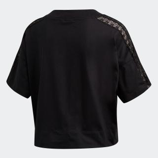 クロップド レースTシャツ
