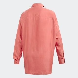 サテン ボタンアップ シャツ