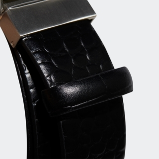 クロコレザーベルト / 3-Stripes Chrome Leather Belt