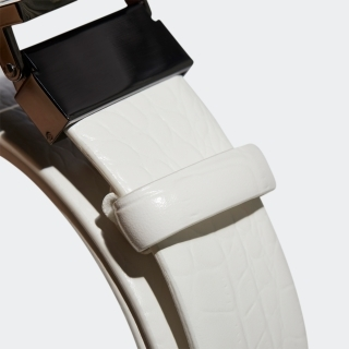 クロコレザーベルト 【ゴルフ】/ 3-Stripes Chrome Leather Belt