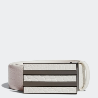 クロコレザーベルト / 3-Stripes Chrome Leather Belt