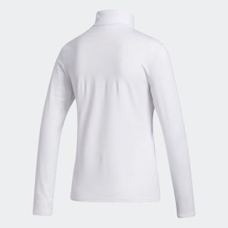 ファブリックミックス 長袖タートルネックシャツ / Mock Neck Long Sleeve Polo Shirt