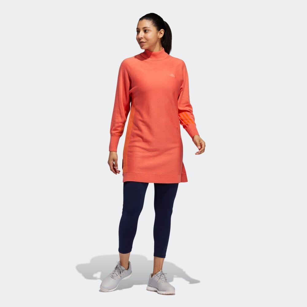 スリーストライプス プルオーバー セーターワンピース / Crewneck Sweater Dress