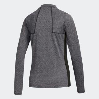 メランジジャカード 長袖モックネックシャツ / Allover Print Shirt