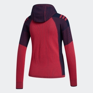 グラデーションジャカード 長袖フーディーセーター / Hooded Knit Jacket