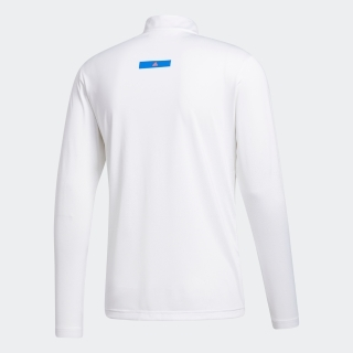 グラデーション 長袖ジップモックシャツ  / Colorblock Long Sleeve Pullover Sweatshirt