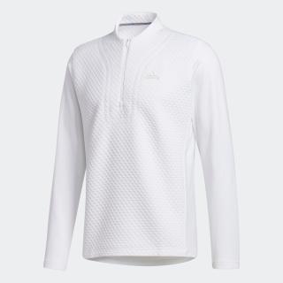 ファブリックミックス 長袖ジップハーフモックシャツ 【ゴルフ】/ Wind Sweatshirt