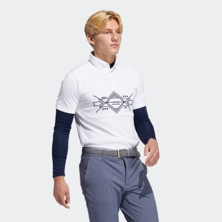 グラフィック レイヤードボタンダウンシャツ 【ゴルフ】/ Two-in-One Long Sleeve Polo Shirt