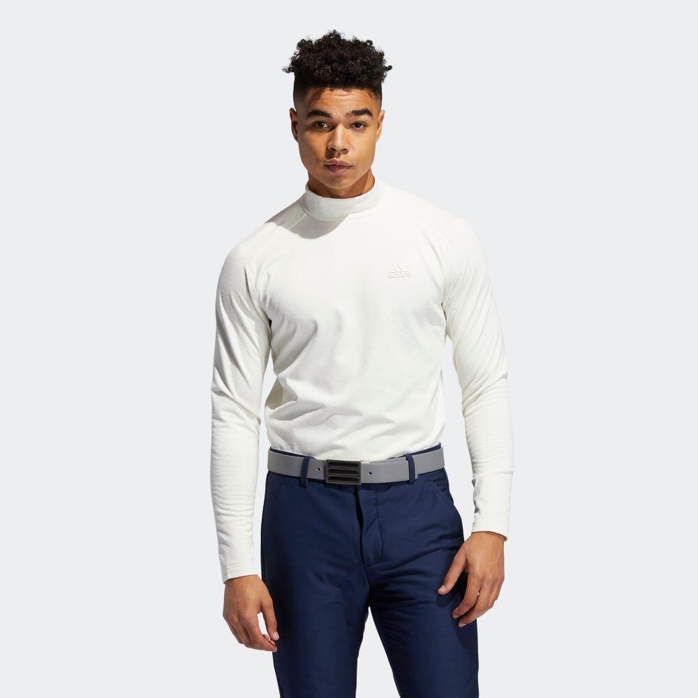 メランジジャカード 長袖モックネックシャツ / Allover Print Long Sleeve Tee