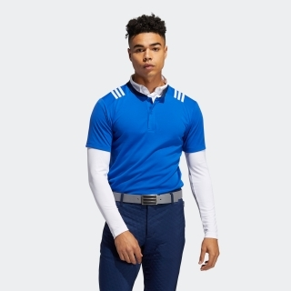 スリーストライプス レイヤードスタンドカラーシャツ / Two-in-One Long Sleeve Polo Shirt
