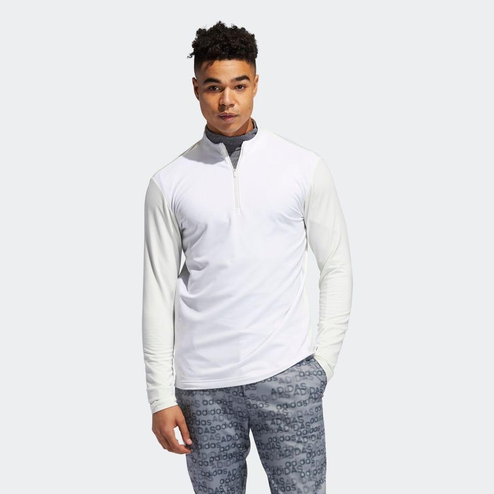 ジオメトリックパターン 長袖ジップモックシャツ / Graphic Half Zip Sweatshirt