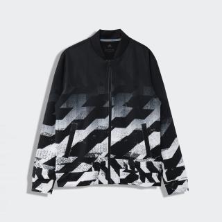ジオメトリックプリント 長袖フルジップライニングスウェット / Jersey Jacket