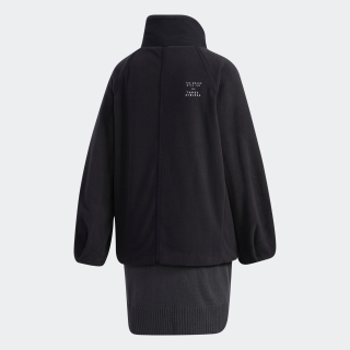 フリース ファブリック ミックス ロングジャケット / Fleece Fabric Mix Long Jacket