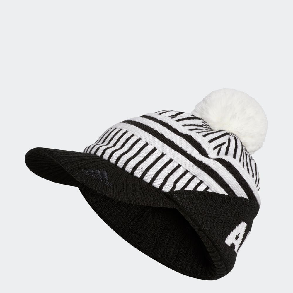 ウィメンズ バイザーニットキャップ / Knit Pompom Cap