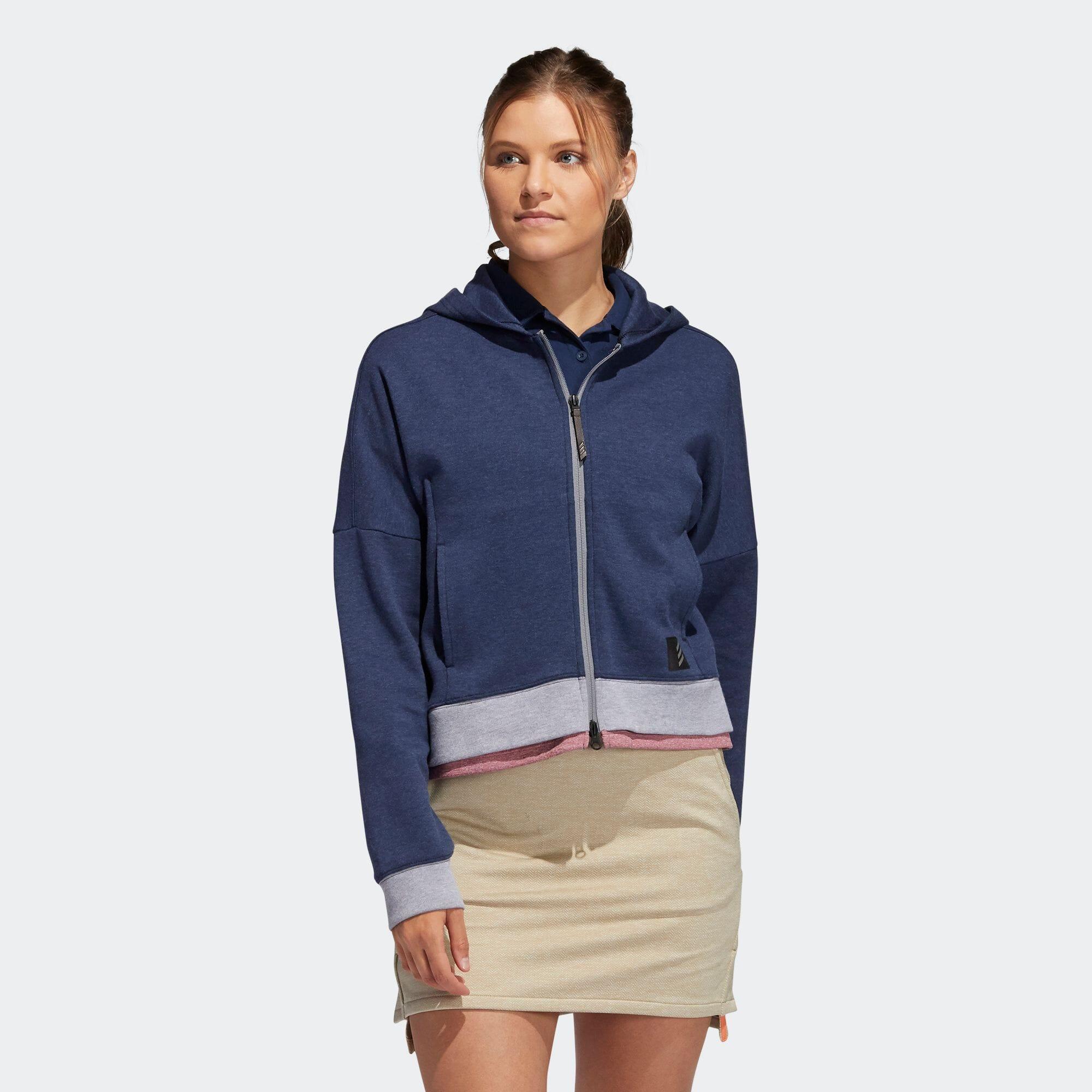 ADICROSS 長袖ショートレングス フルジップフーディー 【ゴルフ】/ Adicross Sweater Hoodie