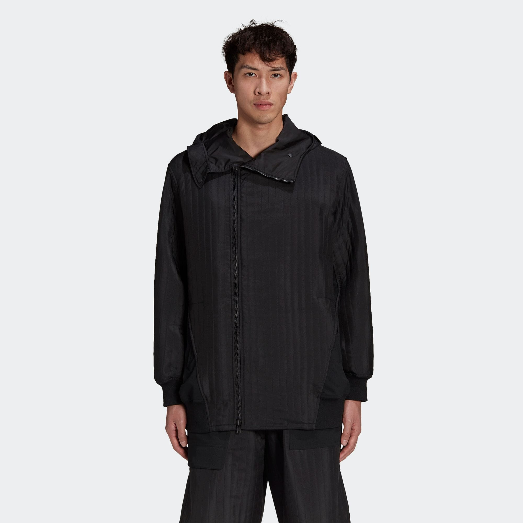 M CH2 QUILTED HOODED TRACK TOP