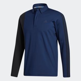 カラーブロック 長袖ボタンダウンシャツ  / Colorblock Long Sleeve Polo Shirt
