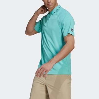 PRIMEGREEN ソリッド 半袖ジップポロ / Equipment Zip Pique Polo Shirt