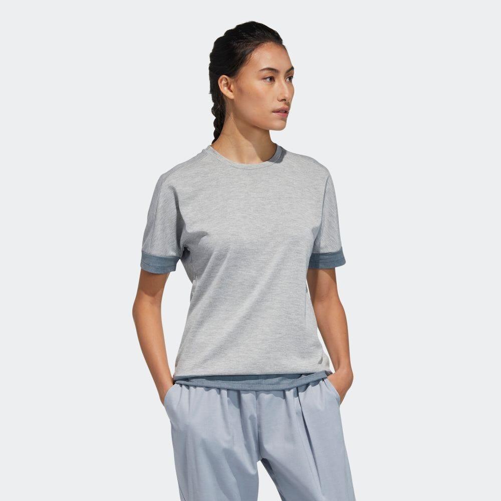 ファブリックミックス 半袖クルーネックシャツ / T-Shirt