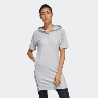 ライトウェイトスウェット 半袖ワンピース / Hooded Dress