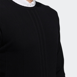 ラインド長袖クルーネックセーター  / Sweater