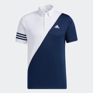 スリーストライプス カラーブロック 半袖ボタンダウンシャツ / Polo Shirt