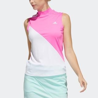 スリーストライプス カラーブロック ノースリーブモックネックシャツ / Sleeveless Polo Shirt